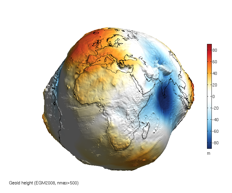 Exaggerated Geoid Shape of the Earth