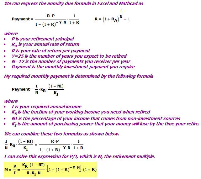 Retirement Savings Rules of Thumb | Math Encounters Blog