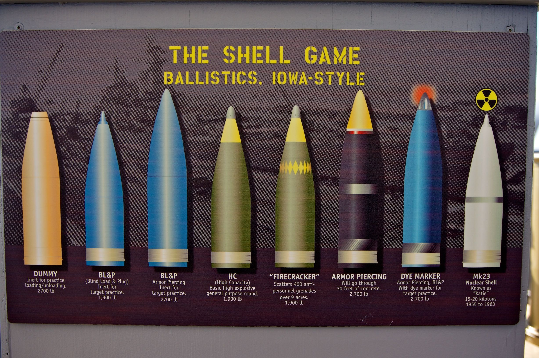 Figure 3: USS Iowa Shell Selection. (Source)
