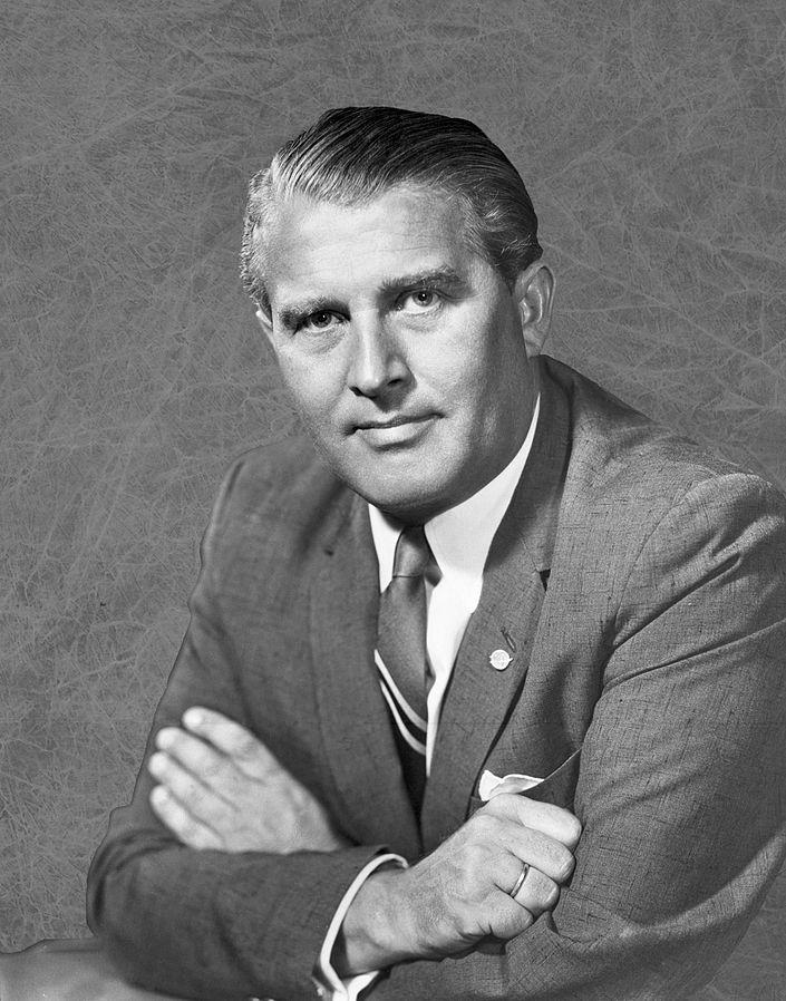 Figure 1: Wernher von Braun. (Wikipedia)