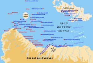 Figure 1: WW2 Ships Sunk in Ironbottom Sound. (Wikipedia)