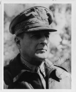 Figure 1: Autographed Photograph of Douglas MacArthur to Chester Nimitz.